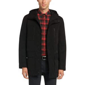 Hugo Coat Down Jacket Brisot1 In Black