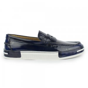 Armani Jeans Footwear Contrast Shoe in Navy