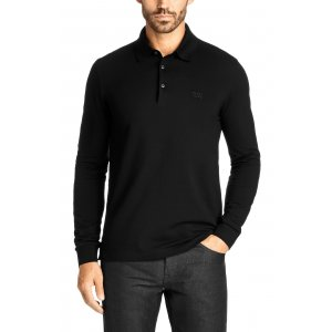 Boss Black Polo Shirts Paderna 10 in Black