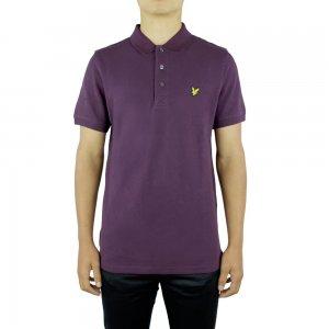 Lyle & Scott Vintage Polo Top Ss Plain in Dark Purple