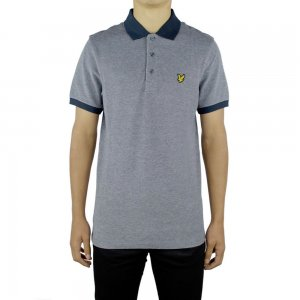 Lyle & Scott Vintage Polo Top Oxford in Navy