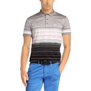 Boss Green Polo Shirts Paddy3 in Grey