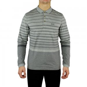 Boss Green Polo Shirts Pleesy1 in Grey