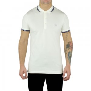 Lacoste Polo Shirts 3D Logo in Cream