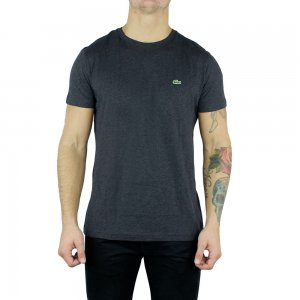 Lacoste T-shirts Plain Logo in Charcoal