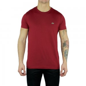 Lacoste T-shirts Plain Logo in Red