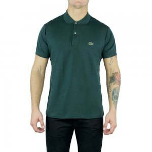 Lacoste Polo Shirts Ribbed Collar in Green
