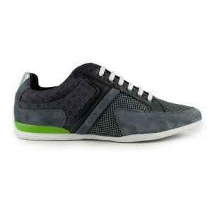 Boss Green Trainers Spacit Graphic in Charcoal