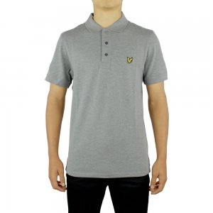 Lyle & Scott Vintage Polo Top SS Plain in Grey