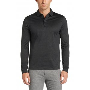 Boss Black Polo Shirts Prato28 in Black