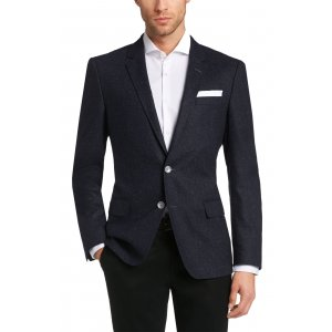 Boss Black Formal Jacket Hustons1 in Dark Blue
