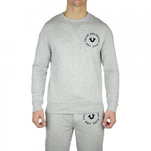 True Religion Sweatshirt Long Sleeved Crew Neck in Grey