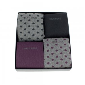 Boss Black Socks 4 pack Design Box in Mixed Colours