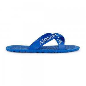 Armani Jeans Flip Flops Logo Flip in Blue