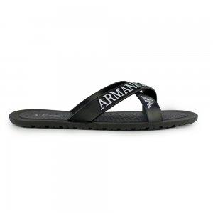 Armani Jeans Flip Flops Logo Flip in Black