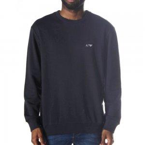 Armani Jeans Sweatshirt Logo Sweat in Navy