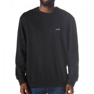 Armani Jeans Sweatshirt Logo Sweat in Black