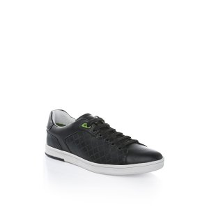 Boss Green Trainers Ray Check in Dark Blue