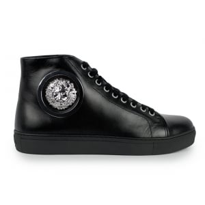 Versus Versace Trainers High Side Lion Logo in Black
