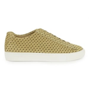 Armani Jeans Trainers All Logo in Beige