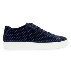 Armani Jeans Trainers All Logo in Navy