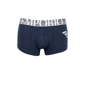 Emporio Armani Underwear Boxers Lined Band in Navy