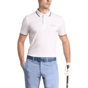 Boss Green Polo Shirts Paddy Pro in White