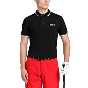 Boss Green Polo Shirts Paddy Pro in Black