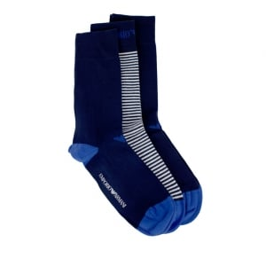 Emporio Armani Underwear Socks 3 Pack Line in Navy