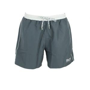 Boss Black Swim Shorts Starfish in Dark Grey