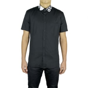 Love Moschino Peace Collar Short Sleeved Shirt in Black