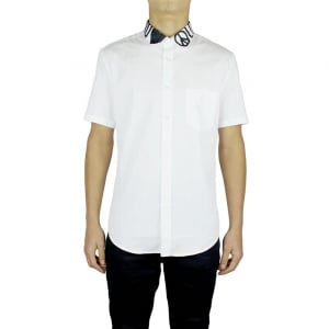Love Moschino Peace Collar Short Sleeved Shirt in White