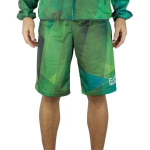 Ea7 Identity Line Shorts in Green
