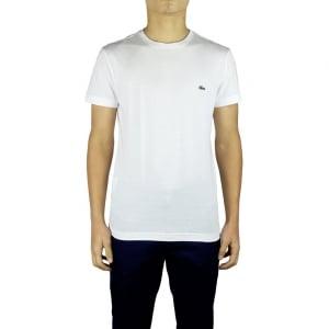 Lacoste Plain Logo T-Shirt in White