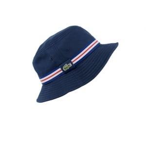Lacoste Bucket Cap in Navy