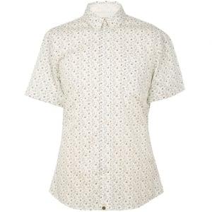 Pretty Green Short Sleeved Shirts Byland in White