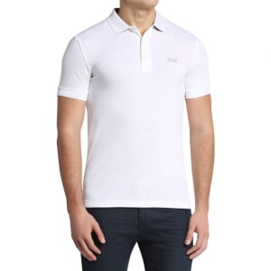 Boss Green Paule Polo Shirt in White