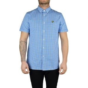 Lyle & Scott Vintage Gingham Check Shirt in Blue