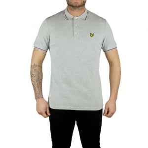 Lyle & Scott Vintage Trim Look Polo Top in Grey