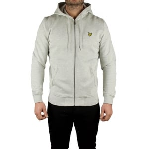 Lyle & Scott Vintage Zip Through Sweatshirt in Grey