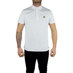 Lyle & Scott Vintage Polo Top Jersey in White