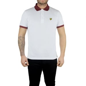 Lyle & Scott Vintage Space Dye Polo Top in White