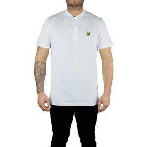 Lyle & Scott Vintage Bomber Polo Top in White