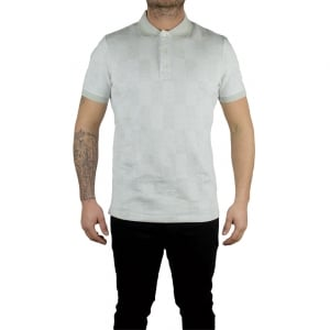 Lyle & Scott Vintage Stitch Polo Top in Grey