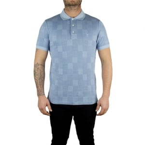 Lyle & Scott Vintage Stitch Polo Top in Blue
