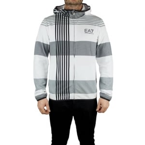Ea7 7 Lines Sweatshirt in White