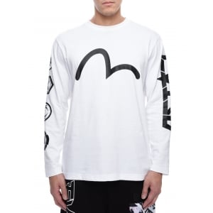 T-shirt Long Sleeve Seagull In White