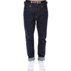Evisu Jeans Seagull Skinny Fit Selvedge Denim Dark Wash