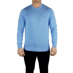 Lacoste Knit Logo Knitwear in Blue