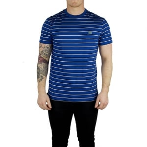 Lacoste Two Stripe T-Shirt in Navy